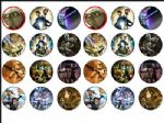 24 x Star Wars Clone Edible Rice Wafer Paper Cup Cake Top Toppers